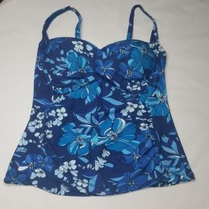 4/$25 16 Tropical Escape Swimsuit Tankini Floral K
